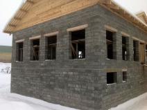 Двухэтажный дом из арболита