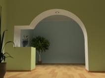 арка в проеме с подсветкой