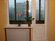 балконные двери с окном