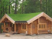 Баня-дом из бревна