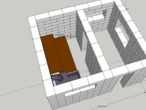 Проект бани из блоков