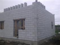 Баня из пеноблоков на ленточном фундаменте