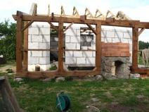Строительство бани из блоков с верандой