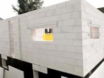 Кладка стен бани из блоков