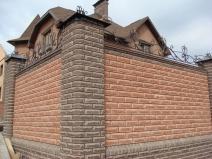 забор из бетона для особняка