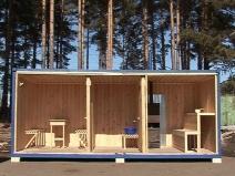 Обустройство деревянного вагончика-бытовки