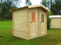Душ и туалет в одном домике на даче