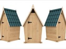 Туалеты дачные деревянные