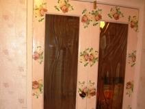 Оформление двустворчатой двери