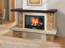 Фальш камин со встроенной имитацией огня