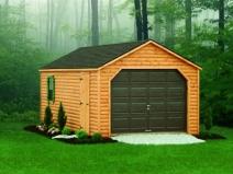 красивый гараж из дерева