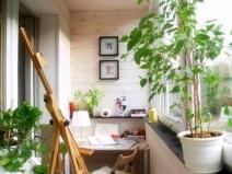 Украшение балкона и создание уголка для отдыха