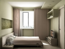 Очень практичное обустройство маленькой спальни