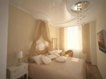 Маленькая спальня: ничего лишнего
