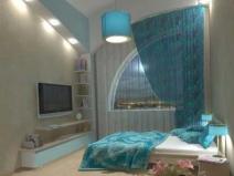 Дизайн маленькой спальни: освещение и потолок увеличивают площадь