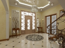Дизайн прихожей в загородном доме