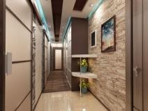 Интерьер двухкомнатной квартиры: длинный коридор