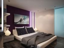 Зонирование разными обоями при создании дизайна спальни