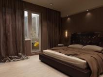 Спальня в темных тонах: не всегда подходит для небольших помещений