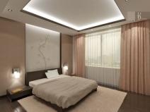 Дизайн  спальни: очень уютное освещение