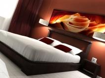 """Очень яркая спальня - настоящая """"изюминка"""" дизайна"""
