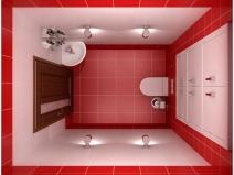 Интерьер туалета небольшого размера