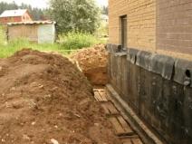 строительство дренажа фундамента