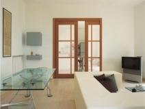 Раздвижные двери пенал в гостиной