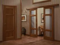 Двери купе в гостиную