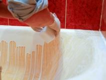 реставрация эмали ванны жидким акрилом