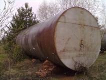 металлическая бочка для канализации