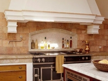 Дизайн фартуков для кухни в старинном стиле