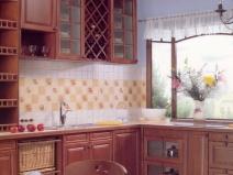Фартуки для кухни, стилизованные под старину