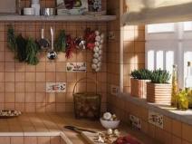 Оформление плиткой рабочей зоны на кухне