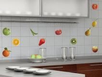Очень простой вариант оформления фартука плиткой