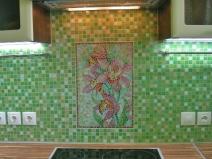 Фартук из мозаики фото
