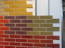 разноцветная фасадная плитка