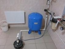 Установка и подключение гидроаккумулятоа