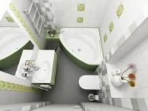 Угловая ванна в интерьере: вариант дизайна