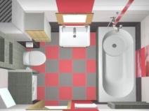 Интерьер для малогоборитной ванны