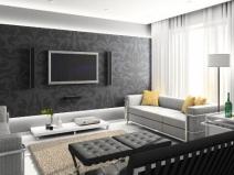 Дизайн зала: строго, ярко, стильно