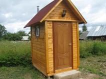 Деревянный туалет на даче: вагонка выглядит великолепно