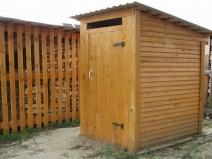 Деревянный туалет на даче своими руками фото