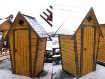 Деревенский туалет из кирпича