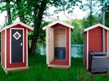 Уличный туалет с удобным унитазом и вентиляцией