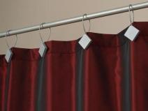 оригинальные крепления для штор в гостиной