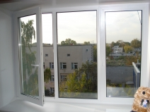 Техстворчатое окно, откосы