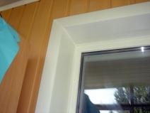Угол окна - откосы из пластика