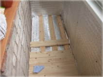 Балконный пол из доски