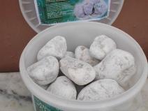 белый кварцит для бани
